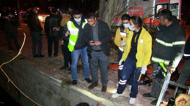 Elbistan'da su kanalına düşen cipin sürücüsü öldü