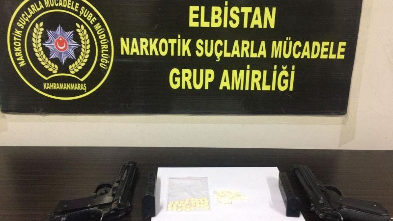 Elbistan'da uyuşturucu madde ele geçirilen bir kişi tutuklandı