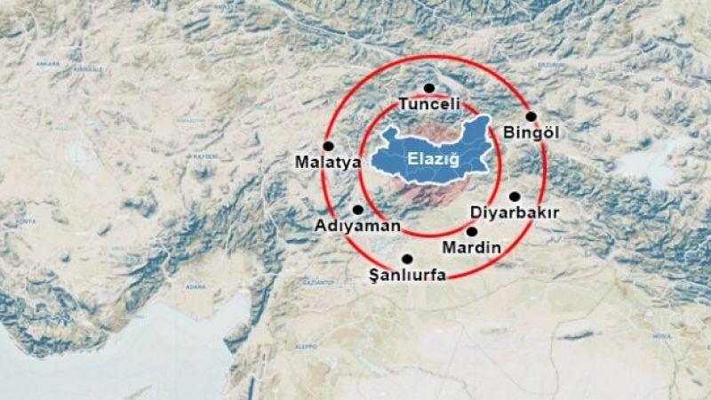 Elazığ'da 5,3 büyüklüğünde deprem! Çevre illerden hissedildi...