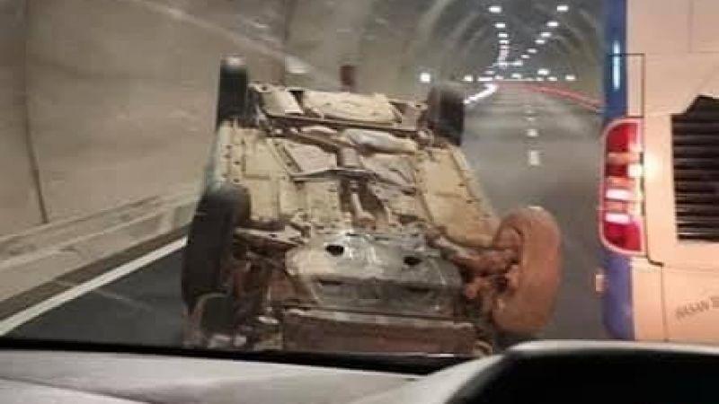 Göksun tünelinde iki otomobil çarpıştı: 3 yaralı