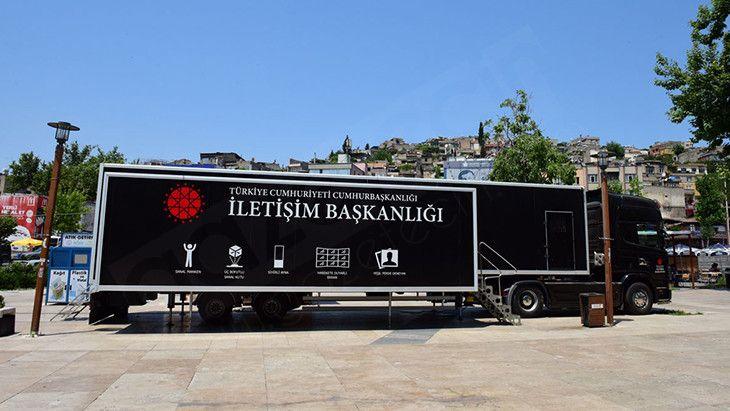 Cumhurbaşkanlığı İletişim Başkanlığı Dijital Tırı Kahramanmaraş'ta