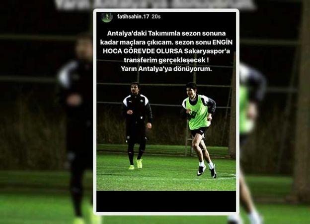 Genç oyuncu sezon sonuna kadar Antalya'da