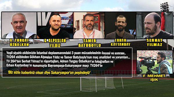 Tv264 ekibi Bayrampaşa maçı için İstanbul'da
