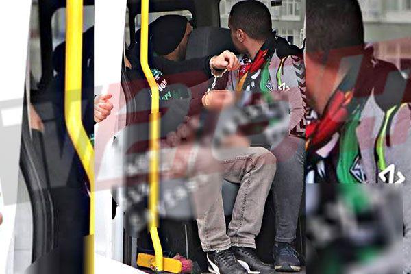 Taraftara kelepçe vurdular.. Fotoğrafa Bayrampaşa'dan