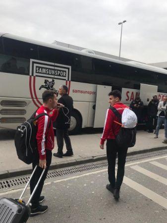 Samsunspor kafilesi İstanbul'a geldi
