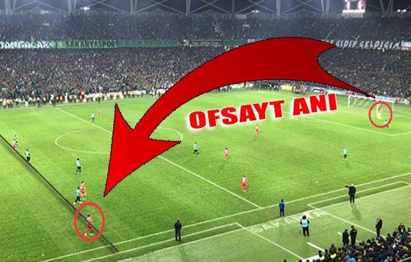 Samsunspor maçında gözlerden kaçan pozisyon