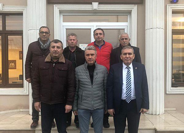 Kıratlı ASKF ve TFF Bölge Müdürlüğü'nü ziyaret etti
