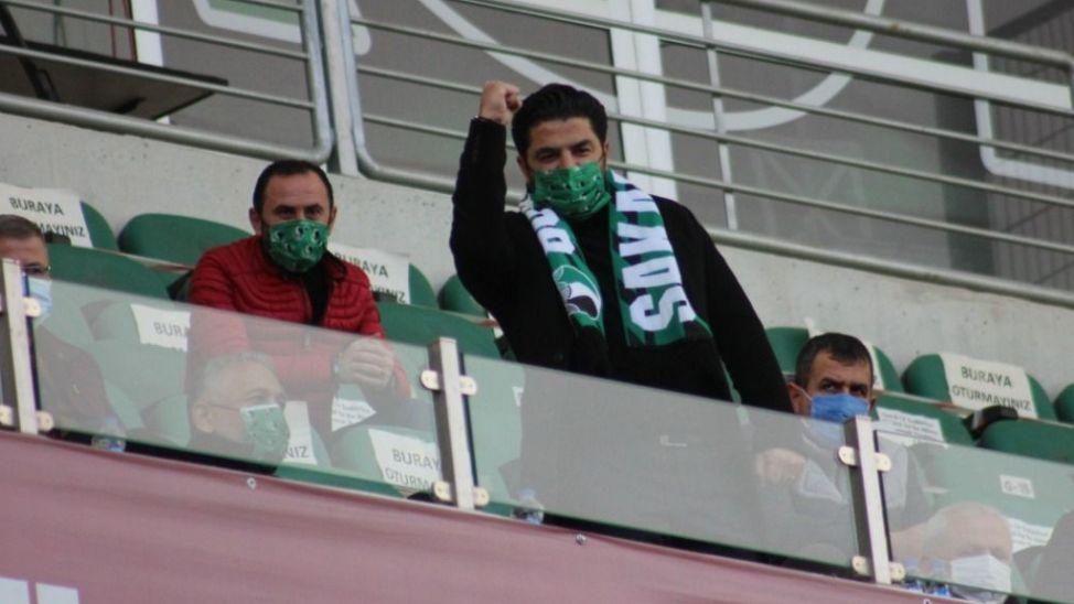 Uğur Akkuş, Atatürk Stadyumu'nda maçı takip etti