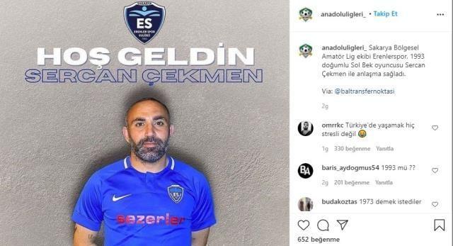 Erenlerspor'un yeni transferi sosyal medyada gündeme oturdu!