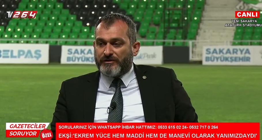 Başkan Ekşi Tv264'te duyurdu! İşte Sakaryaspor'un şampiyonluk primi…