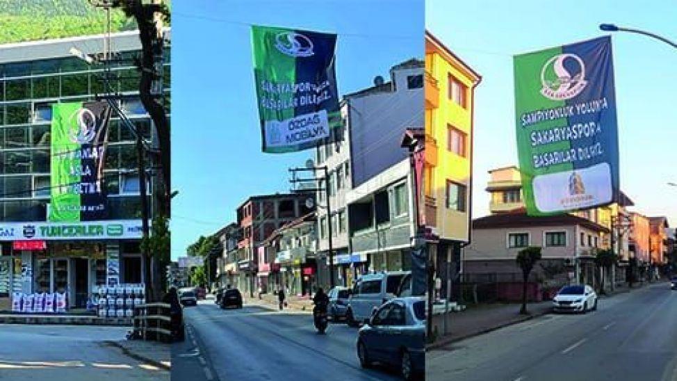 Akyazı'dan Sakaryaspor'a bayraklı destek