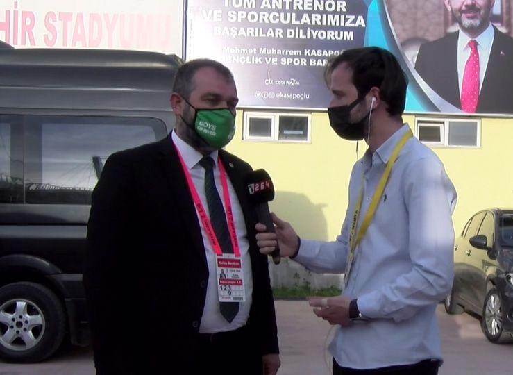 Başkan Ekşi ve yöneticilerden maç sonu Tv264'e özel açıklamalar…