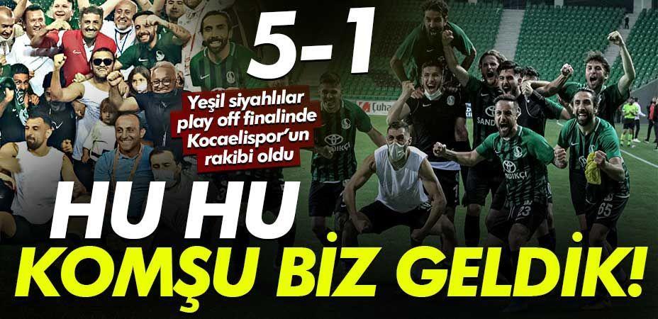 Sakaryaspor finalde! Sakaryaspor 5 Kırşehir Belediyespor:1