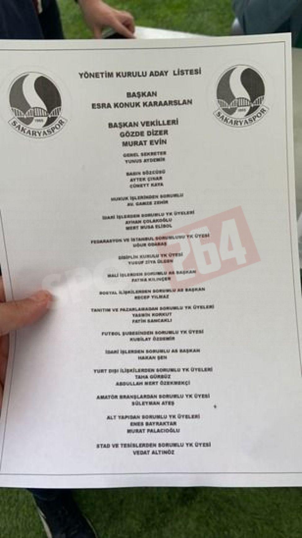 Esra Konuk'un yönetim listesi belli oldu!