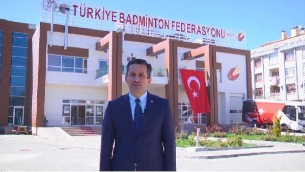 Türkiye Badminton Federasyonu başkanı Özmekik Akyazı'da incelemelerde bulundu