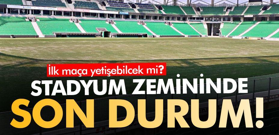 Atatürk Stadyumu'nun zemini ilk maça yetişecek mi?