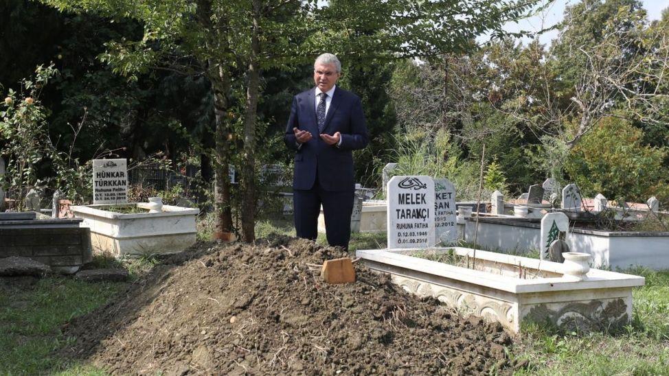 Başkan Yüce'den Amigo Ersin'in mezarına ziyaret!