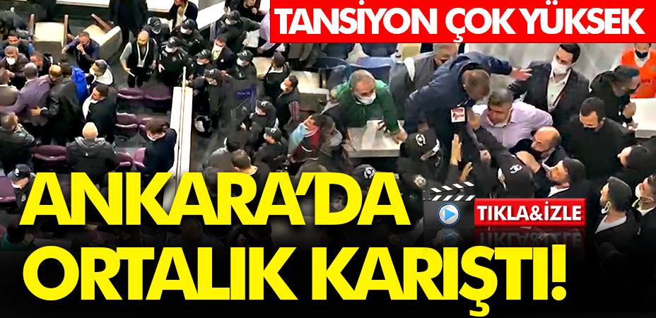 Ankara'da protokol tribünü karıştı! Ortam çok gergin!