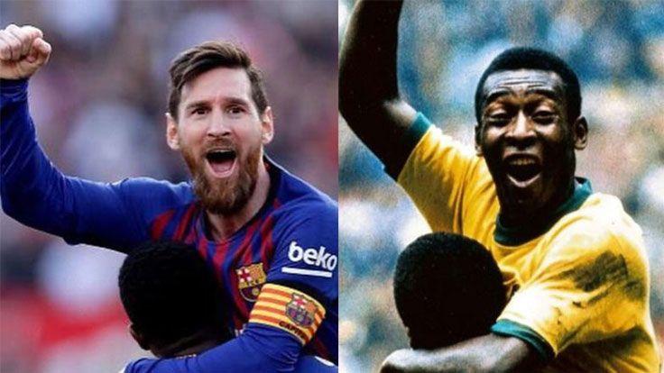 Messi Pele'yi Yakaladı