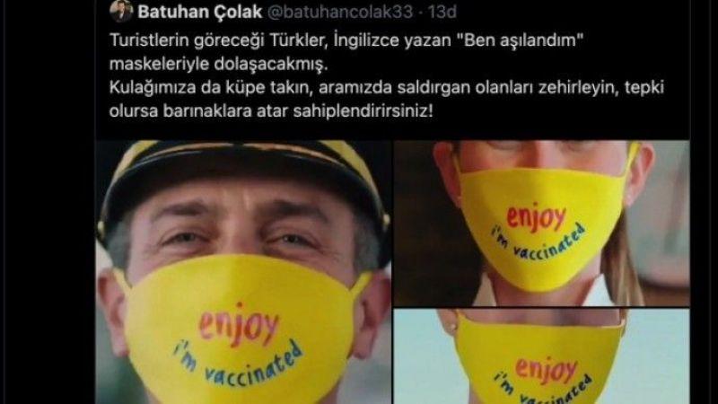 'Aşılandım' Yazan Maskenin Takıldığı Turizm Videosuna Tepki