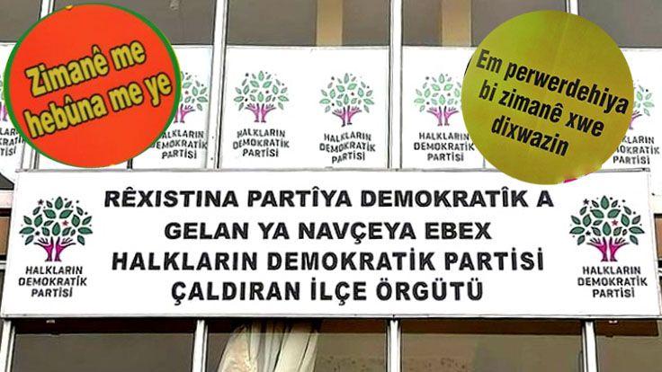 """HDP Çaldıran İlçe Örgütünden Kürt Dil Bayramı Mesajı: """"İlçemizde Tabelalarda Kaldırılan Kürtçenin Eklenmesi Çağrısı Yapıyoruz"""""""