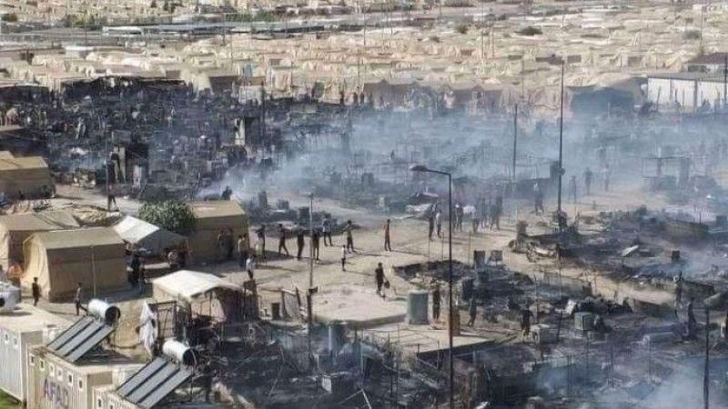 Êzidî Kampında Çıkan Yangında 400 Çadır Kül Oldu