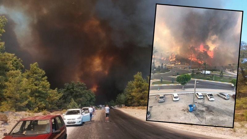 Manavgat'ta 4 Ayrı Noktada Orman Yangını: Alevler Yerleşim Yerleri ve Tarım Alanlarına da Sıçradı