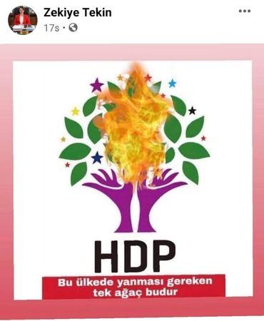 """AKP'li Belediye Başkanı HDP'yi Hedef Gösterdi: """"Bu Ülkede Yanması Gereken Tek Ağaç"""""""