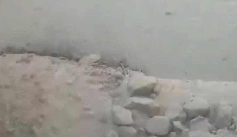 Ağrı Dağı'nın zirvesindeki buzullar eriyor