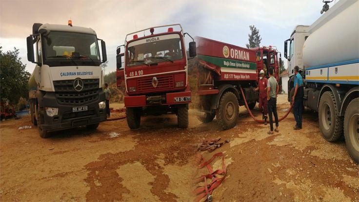 Çaldıran Belediyesinden Marmaris'teki Yangın Söndürme Çalışmalarına Destek