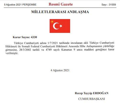 Erdoğan'dan Somali Kararı: 30 Milyon Dolarlık Hibe Verilecek