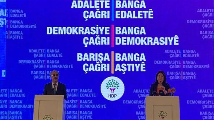 HDP'nin Deklarasyonu Açıklandı