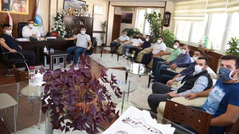 Galericiler Kooperatifi üyelerinden başkana ziyaret