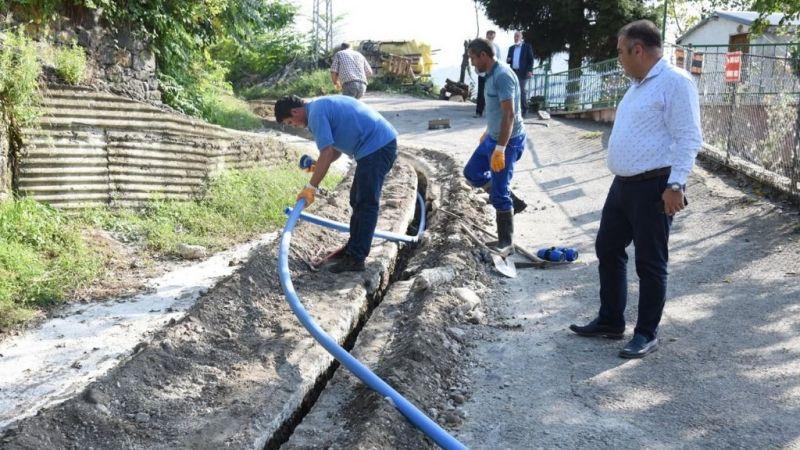 Görele Belediyesi Çeşmebaşı Mahallesi'nin su sorununu çözüyor