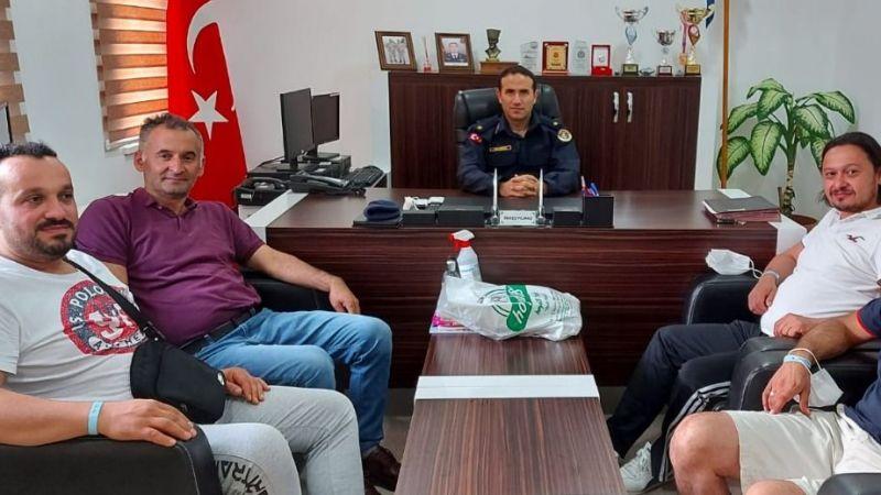 Yağlıdereliler'den Antalya Gazipaşa ilçe jandarma komutanı'na ziyaret