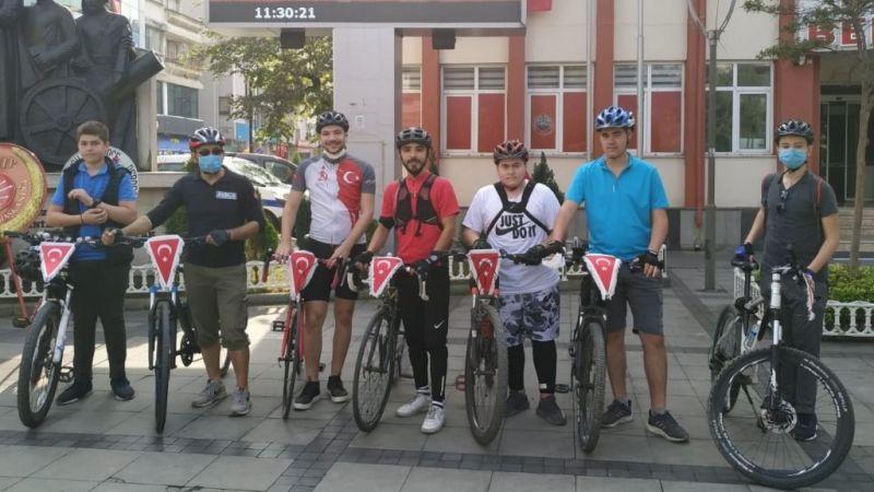 29 Ekim'de 29 km bisiklet etkinliği gerçekleştirdiler