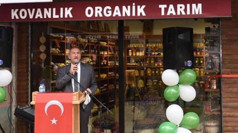 Kovanlık'ta kadınların ürettiği organik ürünlerin satılacağı mağaza açıldı