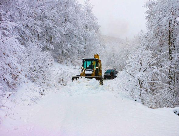 Ordu'nun yüksek kesimlerinde kar yağışı etkili oluyor