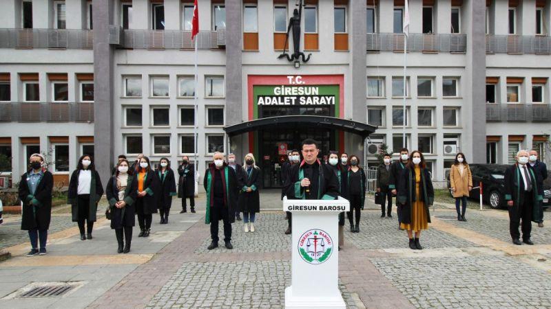 Giresun Barosu, avukat Ersin Arslan'ın öldürülmesine tepki gösterdi