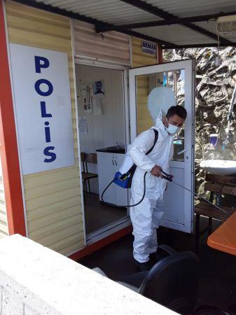 Giresun Belediyesi dezenfekte çalışmalarını sürdürüyor