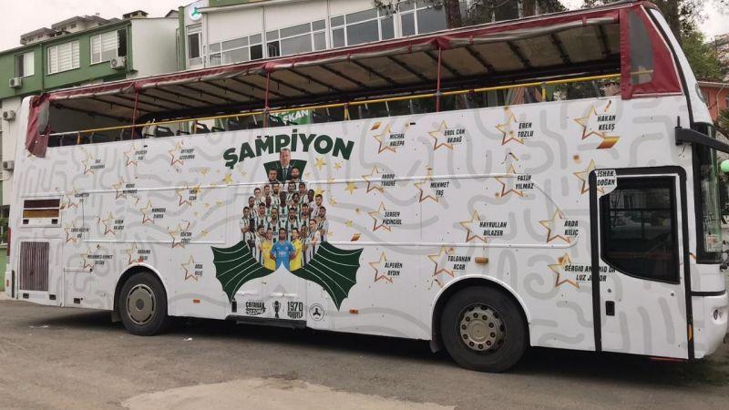 Giresunspor Şampiyonluk otobüsü hazırlattı
