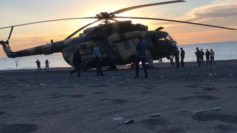 Acil iniş yapan helikopterdeki askeri personelin sağlık durumu iyi