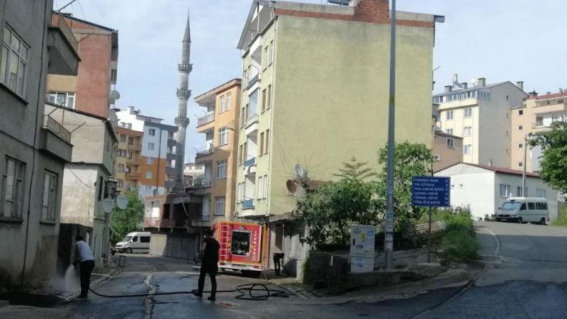 Keşap'ta Sokaklar Dezenfekte Ediliyor