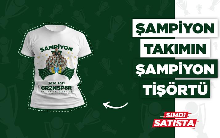 Giresunspor şampiyonluk tişörtleri satışta