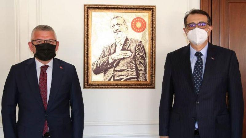 AK Parti Milletvekili Aydın, Enerji Bakanı Dönmez'i ziyaret etti