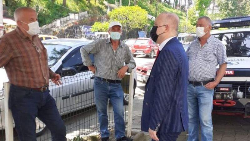 Keşap Belediye Başkanı Emür, Esnaf ve Vatandaş ziyaretleri yaptı