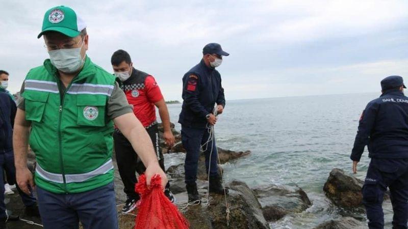 Çevre Günü'nde Denizden Çöp Topladılar