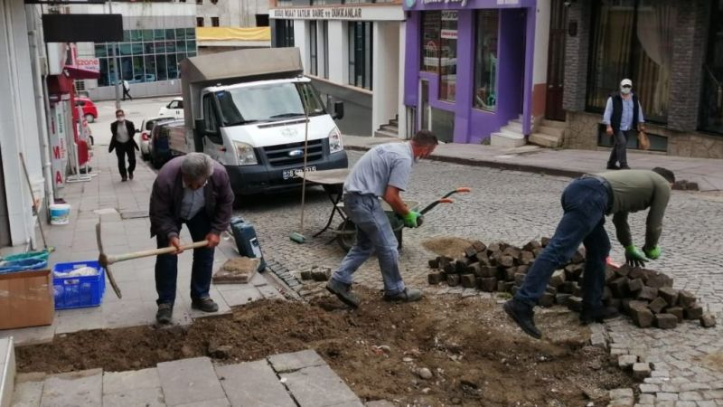 Fen İşleri Çalışıyor Mahalleler Yenileniyor