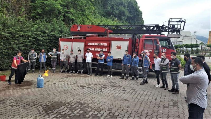Çoruh EDAŞ çalışanları yangın eğitimi aldı