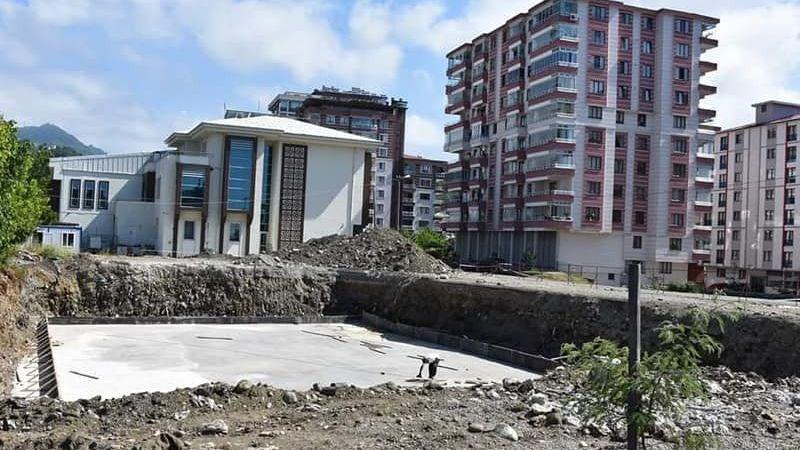 Görele'de Yarı Olimpik Yüzme Havuzu inşaatı başladı